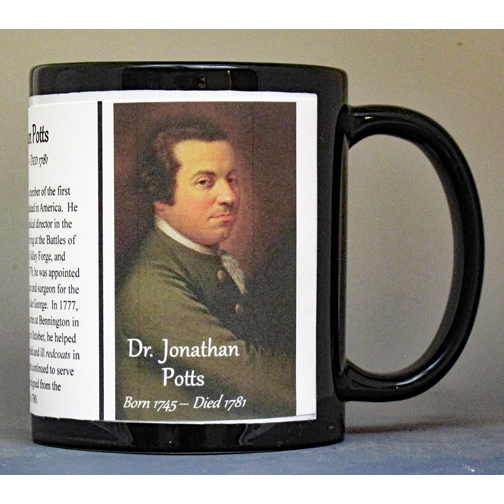 Jonathan Potts, Revolutionary War biographical history mug.
