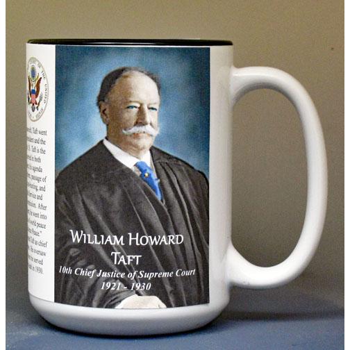William Howard Taft biographical history mug.