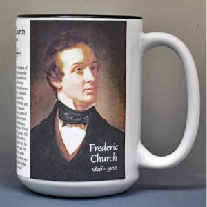Frederic Church, Hudson River School artist, biographical history mug.