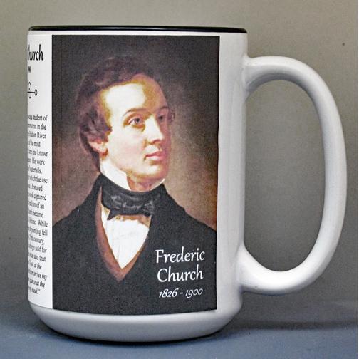 Frederic Church, Romantic Era artist biographical history mug.