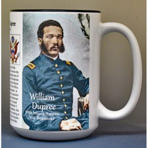 William Dupree, 55th Massachusetts Vol. Regiment, US Civil War biographical history mug.