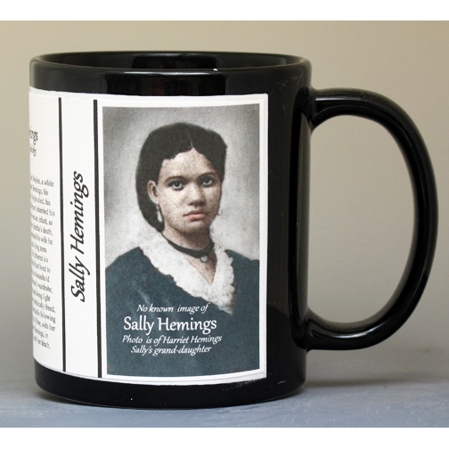 Sally Hemings biographical history mug.