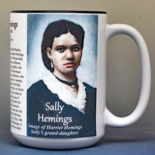 Sally Hemings biographical history mug.
