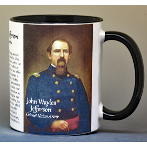 John Wayles Jefferson, African American biographical history mug.