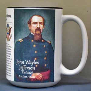 John Wayles Jefferson, descendent of Thomas Jefferson, biographical history mug.