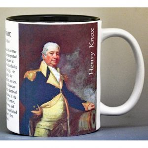 Henry Knox, Washington Crossing biographical history mug.