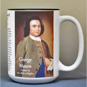 George Mason, Bill of Rights biographical history mug.