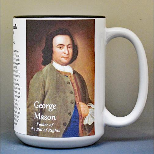 George Mason, Bill of Rights, biographical history mug.