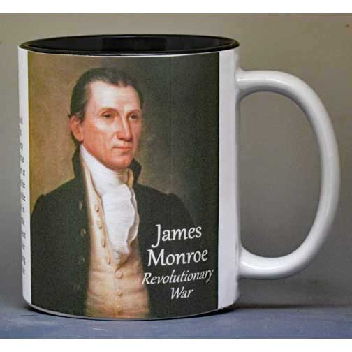 James Monroe, Washington Crossing biographical history mug.