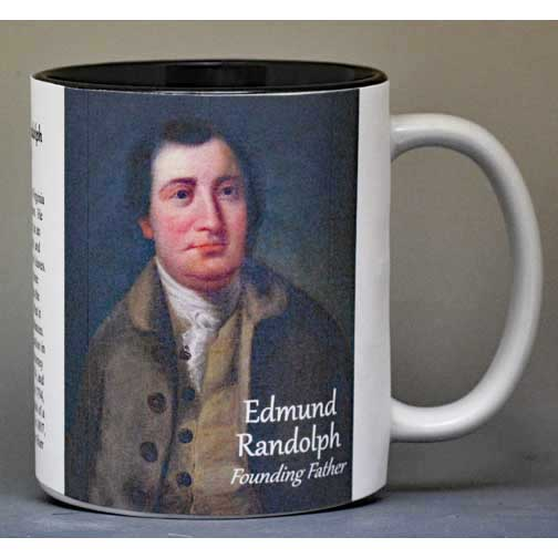 Edmund Randolph, founding father, biographical history mug.