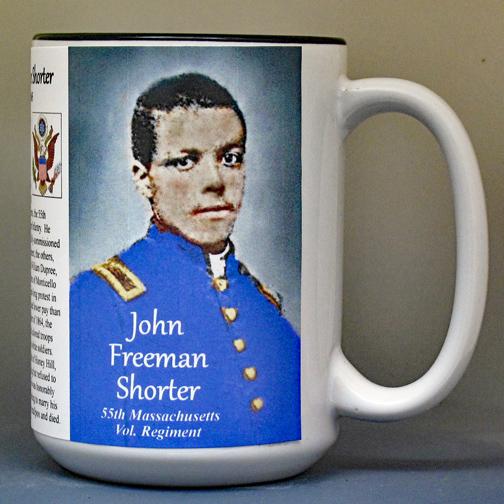 John Freeman Shorter biographical history mug.