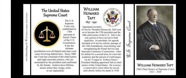 William H. Taft, US Supreme Court Chief Justice biographical history mug tri-panel.