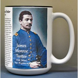 James Monroe Trotter, 55th Massachusetts Vol. Regiment biographical history mug.