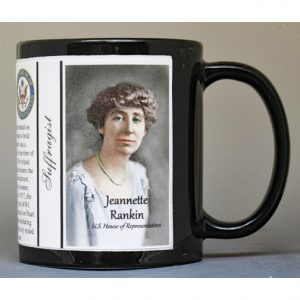 Jeannette Rankin, Women's Suffrage history mug.