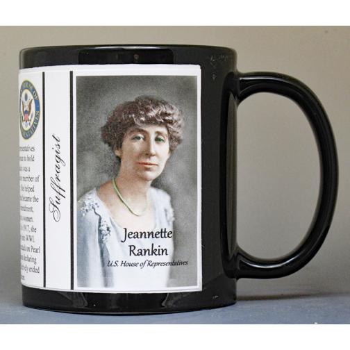 Jeannette Rankin, Women's Suffrage history mug.