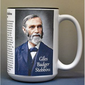 Giles Badger Stebbins, Abolitionist biographical history mug.