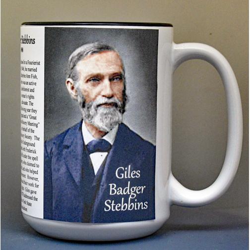 Giles Badger Stebbins, Abolitionist biographical history mug.