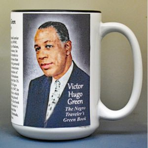 Victor Hugo Green, author of The Green Book, biographical history mug.