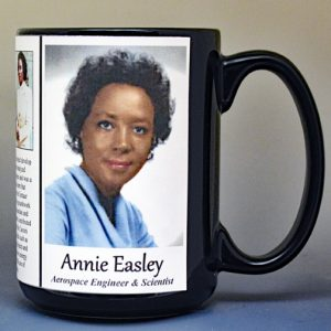 Annie Easley, aerospace engineer & scientist biographical history mug.