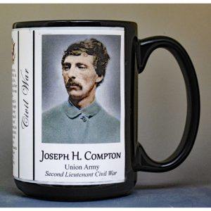 Joseph Compton, Civil War Union Army history mug.