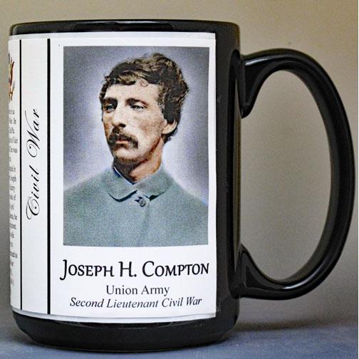 Joseph Compton, Civil War Union Army history mug.
