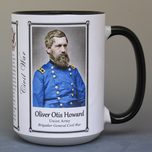 Oliver Howard, Medal of Honor recipient biographical history mug.
