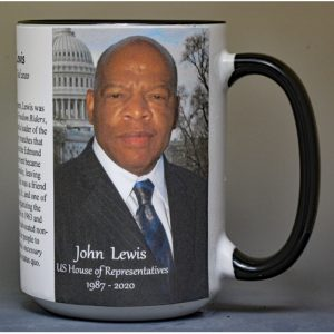 John Lewis, US House of Representatives history mug.