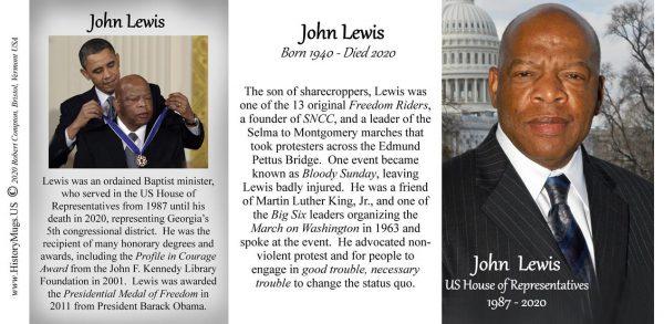 John Lewis, US House of Representatives history mug tri-panel.