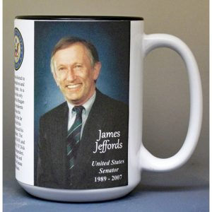 James Jeffords, US Senator biographical history mug.