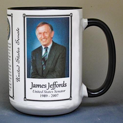 James Jeffords, US Senator biographical history mug.