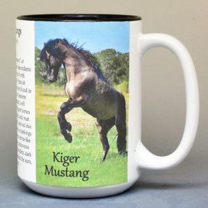 Kiger Mustang history mug.
