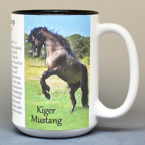 """Kiger Mustang - """"Mesteno"""" horse biographical history mug."""