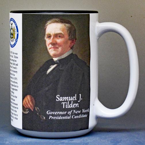 Samuel Tilden, presidential candidate biographical history mug.