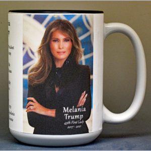 Melania Trump, 45th First Lady history mug.