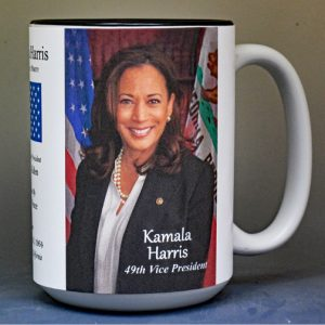 Kamala Harris, 49th US Vice President history mug.