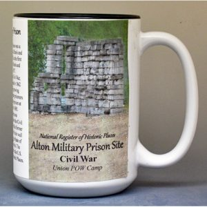 Alton Military Prison, US Civil War biographical history mug.