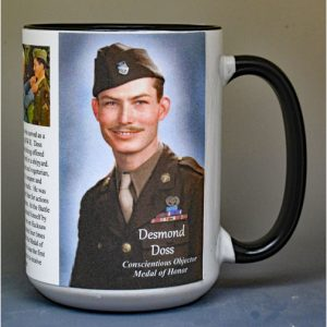 Desmond Doss, Medal of Honor recipient history mug.