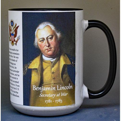 Benjamin Lincoln, Secretary at War, biographical history mug.