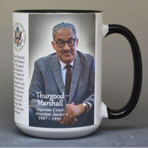 Thurgood Marshall, US Supreme Court Justice history mug.