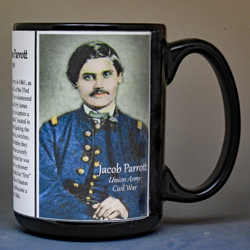 Jacob Parrott, Medal of Honor recipient, biographical history mug.