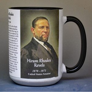 Hiram Rhodes Revels, US Senator biographical history mug.