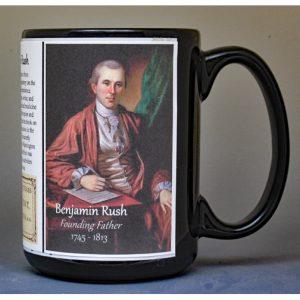 Benjamin Rush, founding father biographical history mug.
