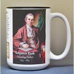 Dr. Benjamin Rush, American Revolutionary War biographical history mug.