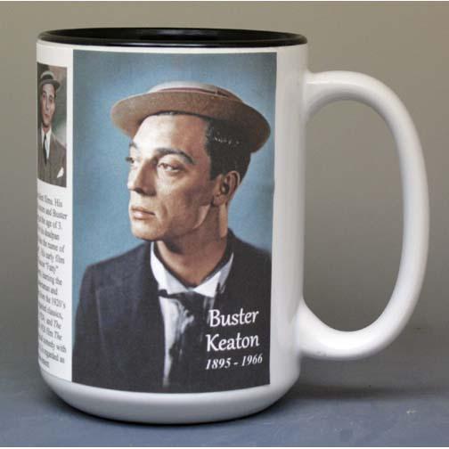 Buster Keaton biographical history mug.