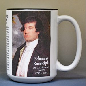 Edmund Randolph, US Attorney General biographical history mug.