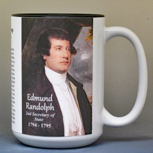 Edmund Randolph, US Secretary of State biographical history mug.