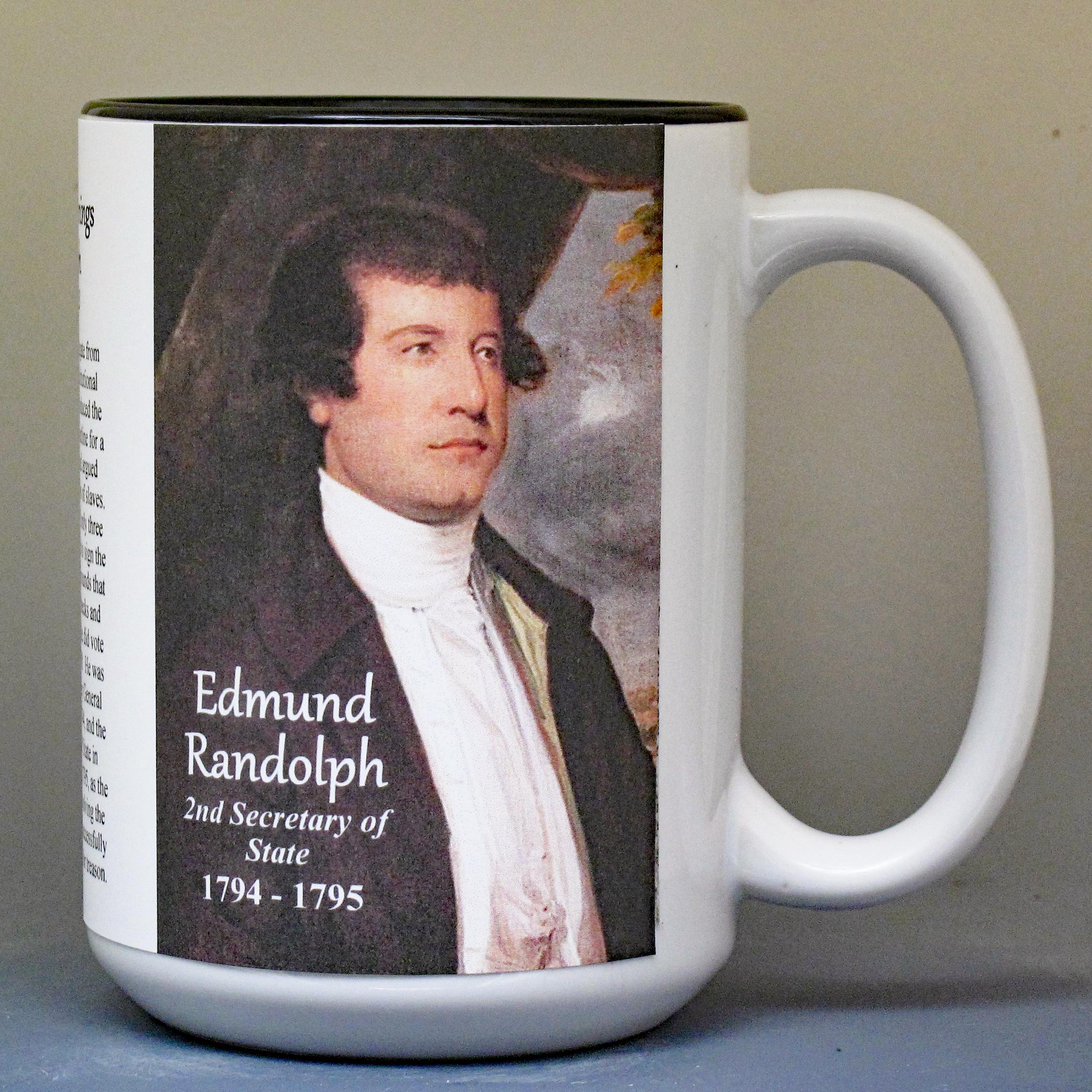 Edmund Randolph biographical history mug.