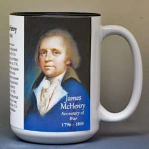 James McHenry, US Secretary of War biographical history mug.