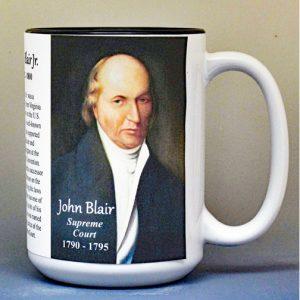 John Blair, US Supreme Court Justice biographical history mug.