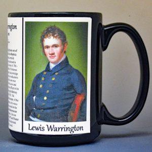 Lewis Warrington, US Naval Officer War of 1812, biographical history mug.